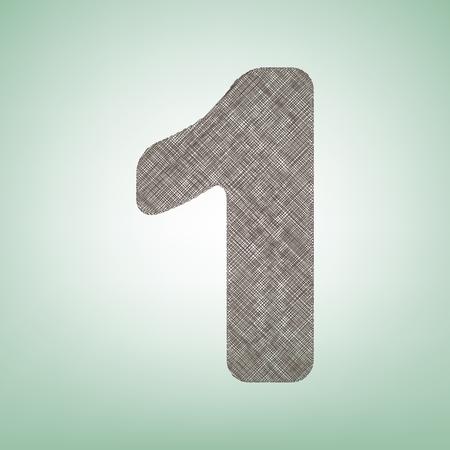 Number 1 sign design template element.