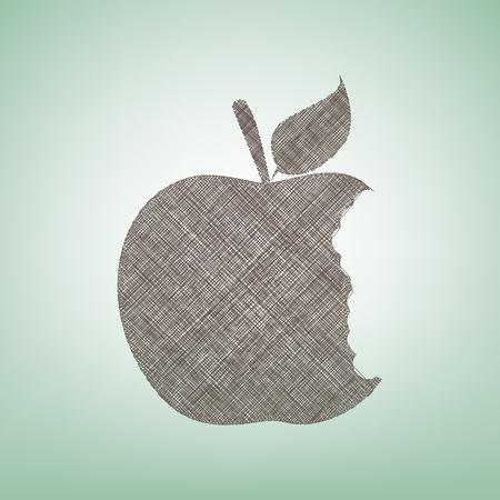 Bitten fruit sign.