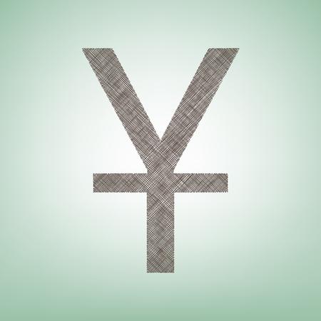 Chinese Yuan sign Illustration