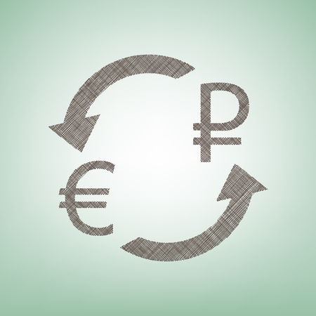 Currency exchange sign Illustration