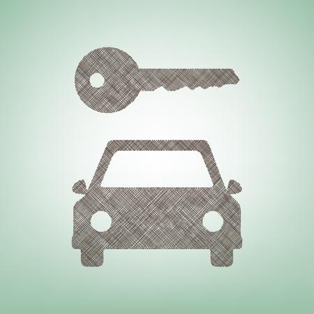 Car key simplistic sign