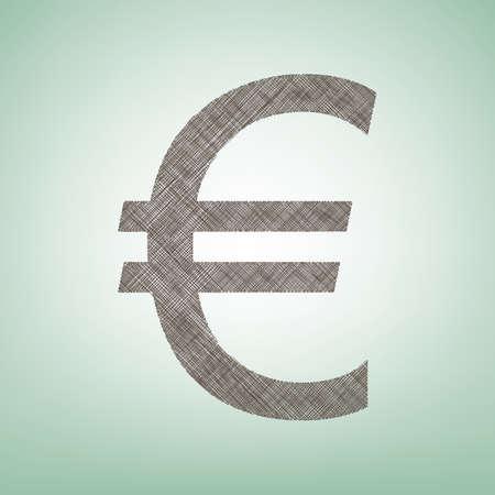 Euro sign Vector Illustration