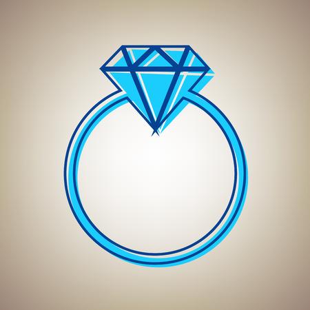 Diamond sign illustration