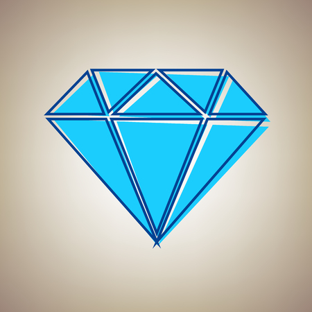 royal person: Diamond sign illustration