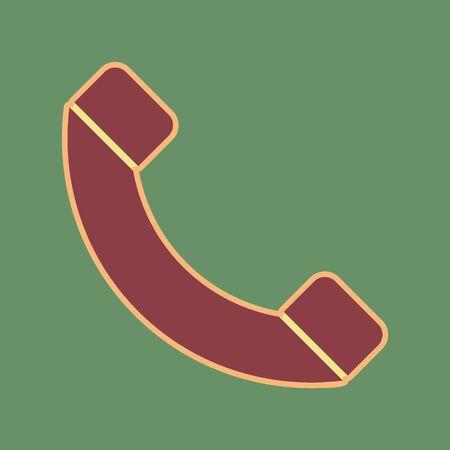 Phone sign illustration. Illustration