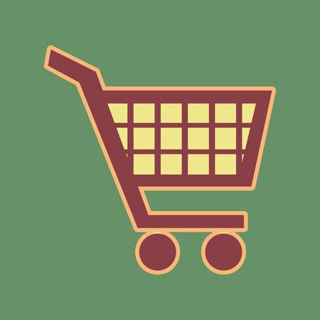 Shopping cart sign.