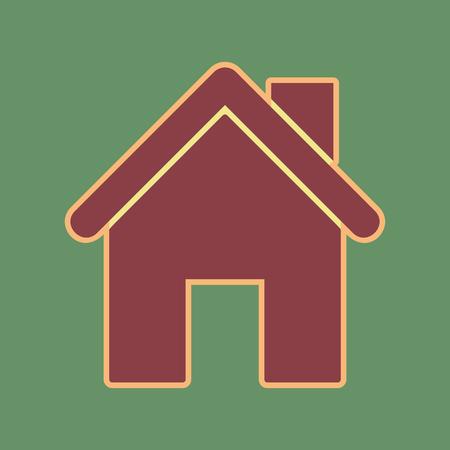 Home silhouette illustration. Illustration