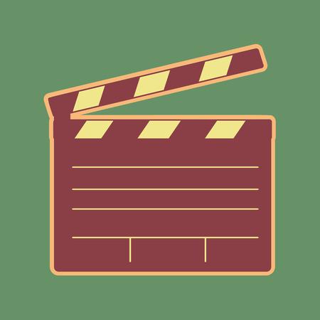 Film clap board cinema sign.