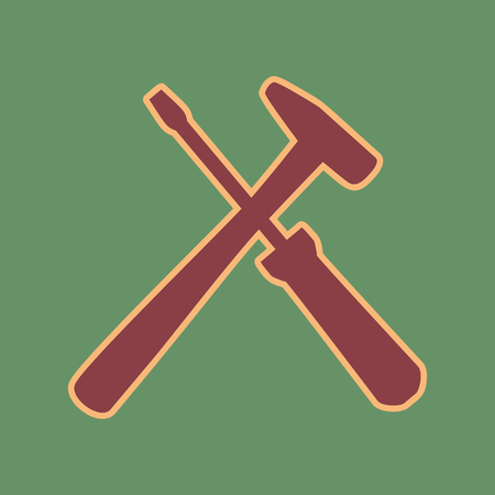 khaki: Tools sign illustration.