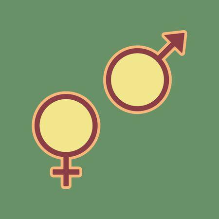 Gender symbol sign. Illustration