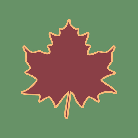 Maple leaf sign.