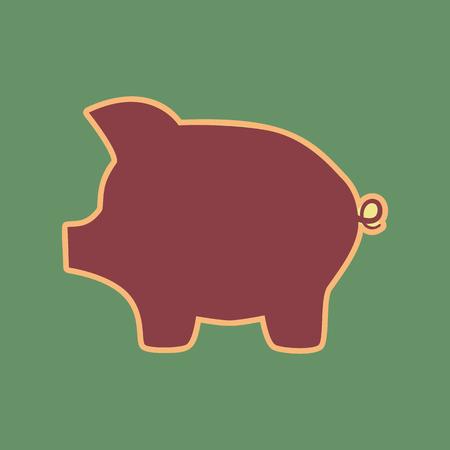 Pig money bank sign.