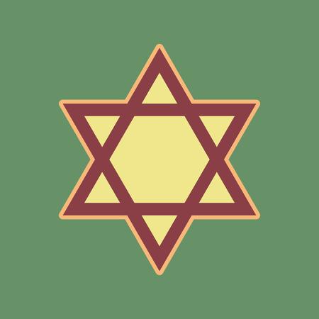 Shield Magen David Star Symbol Of Israel Vector Cordovan Icon