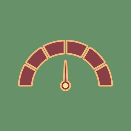 Meter gauge sign icon.