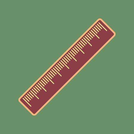 Centimeter ruler sign.