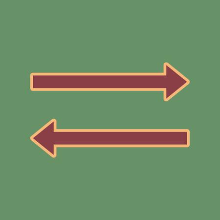 Arrow simple sign.