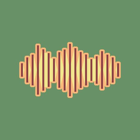 Sound waves icon. Illustration