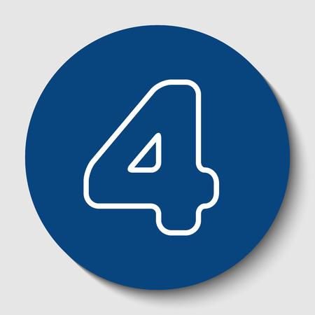 Number 4 sign design template element.