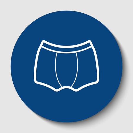 Mans underwear sign. Illustration