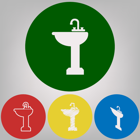 Bathroom Sink Sign Vector 488 White Styles Of Icon At 488 Colored Amazing Bathroom Sign Vector Style