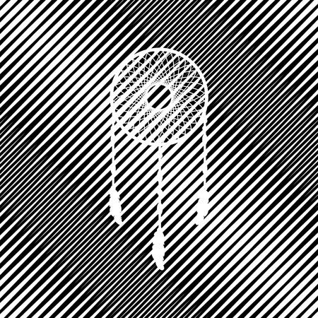 Dream catcher sign. Vector. Icon. Hole in moire background. Illusztráció