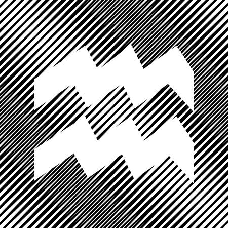Aquarius sign illustration. Vector Icon.