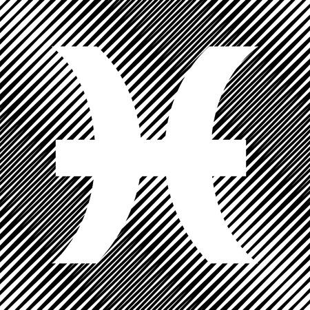Pisces sign illustration. Vector Icon. Ilustração