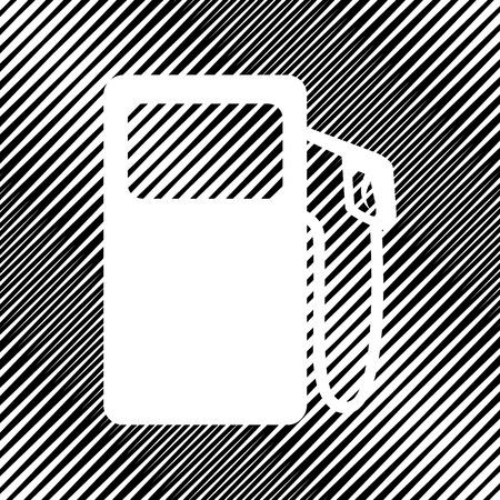 Gas pump sign. Vector Icon. Illustration