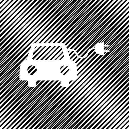 Eco electric car sign. Vector Icon.