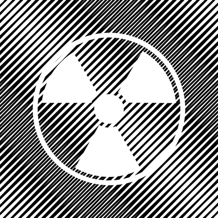 Radiation Round sign. Vector Icon. Vettoriali