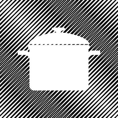 Cooking pan sign. Vector Icon. Иллюстрация