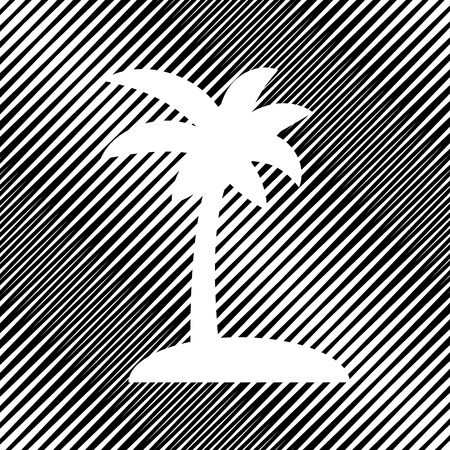 Coconut palm tree sign. Vector Icon.