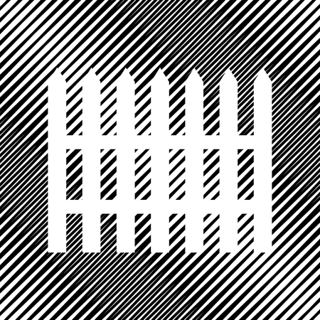 Fence simple sign. Vector Icon. 일러스트