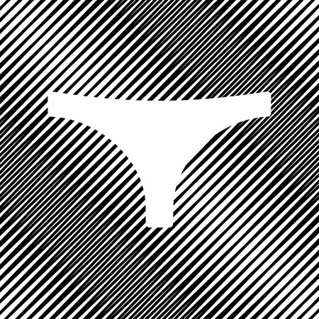 Womens panties sign. Vector Icon.