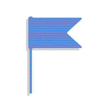 Flag sign illustration. Vector. Neon blue icon with cyclamen pol 일러스트