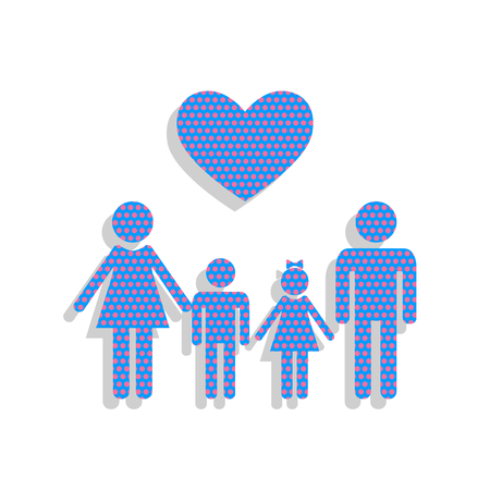 Family symbol with heart. Illustration