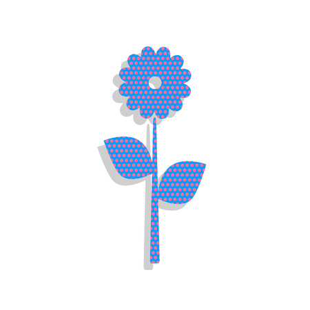 Flower sign illustration. Vector. Neon blue icon with cyclamen p Illustration