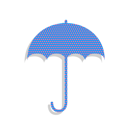 Umbrella sign icon. Rain protection symbol. Flat design style. V