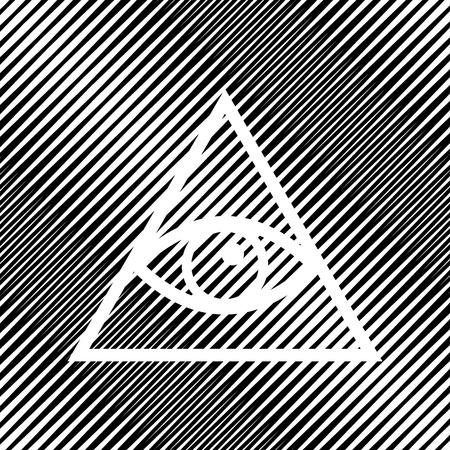 All seeing eye pyramid symbol. Freemason and spiritual. Vector. Illusztráció