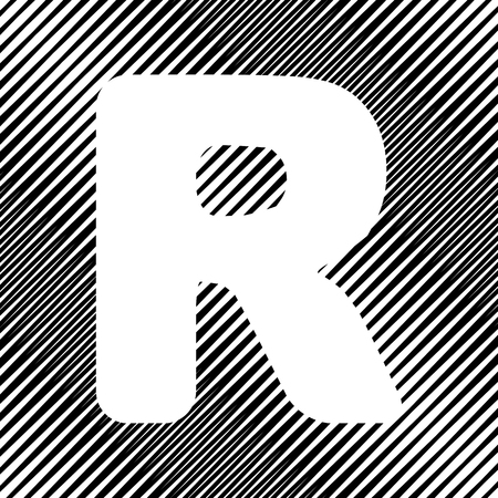 Letter R sign design template element. Vector Icon.