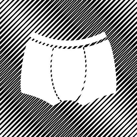Signe de sous-vêtements de l'homme. Icône vecteur trou en fond moiré. Banque d'images - 97674345