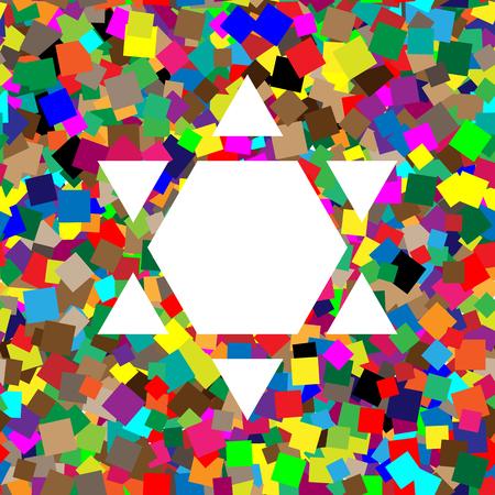 Shield Magen David Star Inverse. Symbol of Israel inverted. Vect