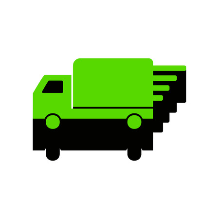 Delivery sign illustration. Green 3d icon