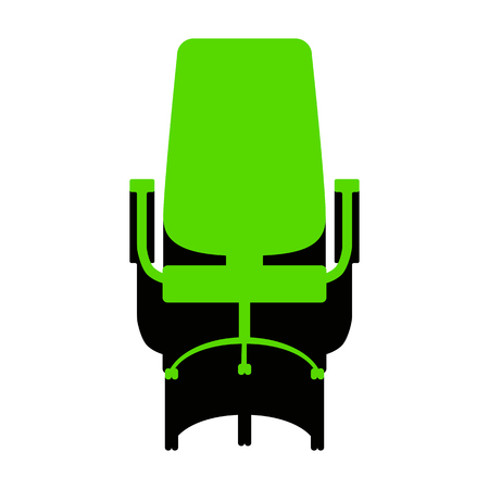 Office chair sign. Vector.