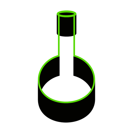 Tube Laboratory glass sign Green icon with black sides