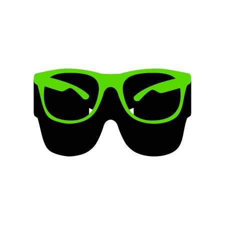 Sunglasses sign illustration. Vector.