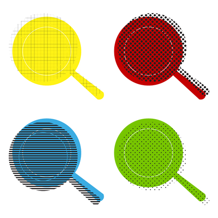 Pan icon in yellow, red, blue and green color