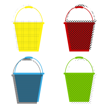 Bucket sign for garden Vector isolated on plain background