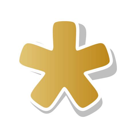 Asterisk star sign. Иллюстрация