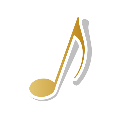 Music note sign vector illustration